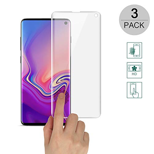 BestCatgift Galaxy S10e [3-Pack] Curved Anti-Riot Screen Protector Film for Samsung S10e with [Soft Film][Full Screen Protection][Finger Unlock]