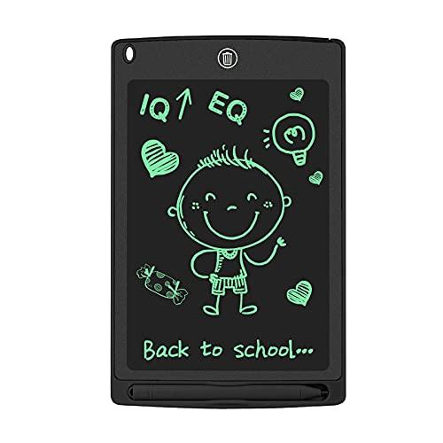 WOBEECO 8,5 Pulgadas Tableta de Escritura LCD, Tableta Grafica Digital con Bloqueo de Pantalla Borrable y Reutilizable, Pizarra Magica Electronica para Dibujo Niños y Juguete Educativo (Negro)