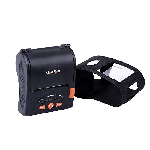 MUNBYN Android Mini Receipt Printer with Carry Case, 58mm Portable Bluetooth Mobile Thermal Printer, High Print Speed and ESC/POS Print Commands Set