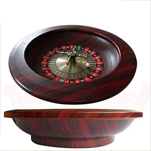 TX GIRL 12inch Casino Roulette-Rad Aus Holz Dia.30CM Metall Rotary Roulette Poker Chips Set Roulette Party Casino Art Brettspiele (Color : 30cm Wooden Roulette)