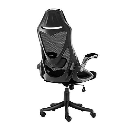 Silla de Oficina ergonomico, y una Silla comoda de Juego con 90 Grados;reposabrazos y Ruedas giratorias, Silla Regulable en Altura Equipo de Estudio, Negro sillas Oficina RVTYR (Color : Black)