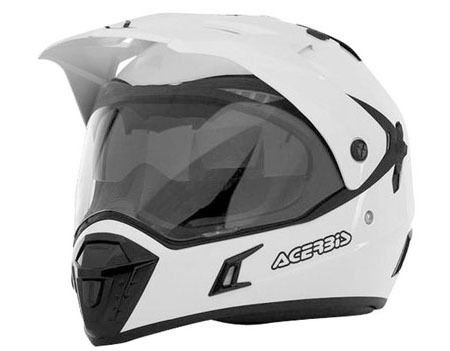 Casco Helmet Helm Capacete ACERBIS ACTIVE motard enduro quad atv (S, BIANCO - WHITE)