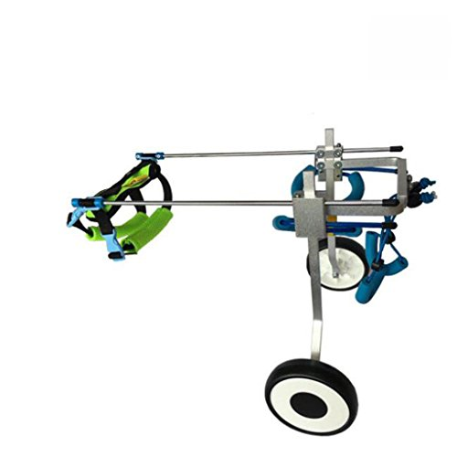 XUQIANG Hunderollstuhl/Hundescooter/Hinterbeine Behinderte Rollstuhl/Tierrehabilitationstrainingswagen Pet Kinderwagen (Size : XS-WL)
