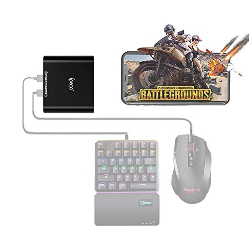 IPEGA PG-9116 Wireless 4.0 Mobile Game Controller Keyboard and Mouse Converter Adapter for Android Devices Smartphone/Tablet (Black)
