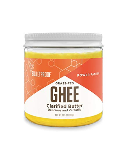 Bulletproof Ghee, Clarified Butter Fat from Grass Fed Cows, Keto and Paleo Friendly, Gluten-Free, 13.5 Ounces