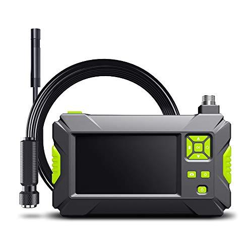 Kilcvt Endoscopio Industrial, Cámara De Endoscopio con Pantalla IPS De 4.3 Pulgadas 1080p HD Ip67 Cámara De Inspección De Boroscopio a Prueba De Agua, 8 Luces Led Ajustables,Verde,5m