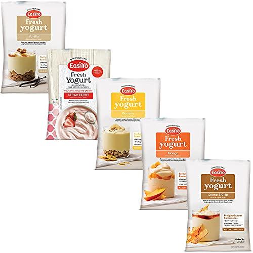 EasiYo Everyday 5 Flavour Variety Pack Yogurt Mix - Pack of 5