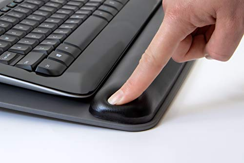 """3M Gel Wrist Rest for Keyboards with Tilt-Adjustable Platform, Soothing Gel with Durable, Easy to Clean Leatherette Cover, Antimicrobial Product Protection, 19.6"""" x 10.6"""", Black (WR420LE) Photo #5"""