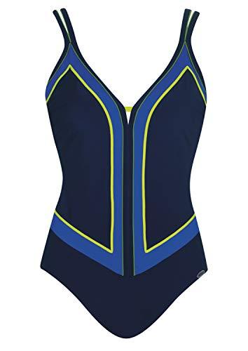 Badeanzug Pure Ocean Shapewear Cup F, Farbe blau, Größe 40