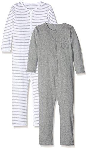 NAME IT Baby-Jungen NMNNIGHTSUIT 2P Mel NOOS Schlafstrampler, Mehrfarbig (Grey Melange), 86 (2er Pack)