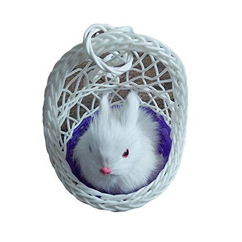 happyhouse009 - Statuetta realistica a forma di coniglio, decorazione pasquale, decorazione da tavolo, bomboniere Mixed Color
