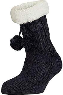 YSABEL MORA, Calcetines Mujer Antideslizantes Home. Lana. Par de Calcetines Zapatillas. De Invierno.