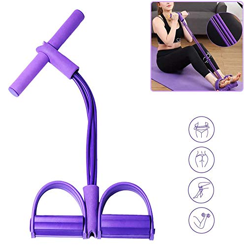 BTkviseQat Multi-Function Tension Rope,Bodybuilding Expander Elastischen Widerstand Band Yoga SportgeräTe Taille Arm Beintrainer Gym GeräT FüR Fitness Abnehmen Training