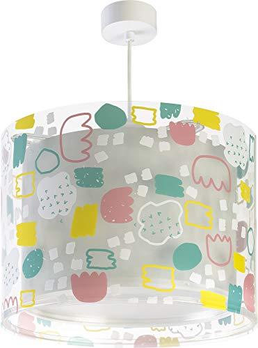 Dalber Lámpara Infantil Juvenil de techo Secrets Estampado Gris Rosa, 60 W, Multicolor