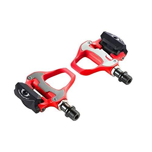 THQC Sistema Road Bike Pedale Bicicletta Autobloccante Pedali con Tacchetti di Ciclismo su Strada della Bici della Bicicletta Parts Pedali R550 for Shiman (Colore : Rosso)