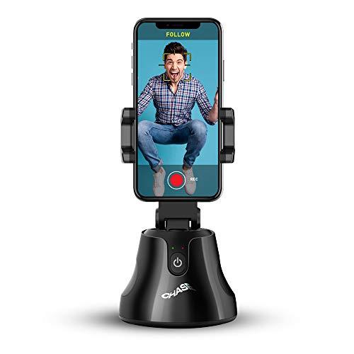 iJoy Chase Soporte Trípode para Teléfono con Seguimiento Facial, Trípode de Cámara de Disparo 360 para Grabar Vlogs/Videos/Tiktok con iPhone, Samsung y más, Aplicación Integrada para iOS/Android