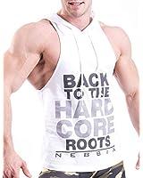 Men's Bodybuilding Hoodie Shirts Stringer Tank Top Muscle Sleeveless Gym Vest