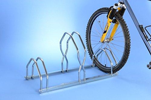 Unbekannt Mottez Fahrradständer für 3 Fahrräder, 2 unterschiedliche Höhen