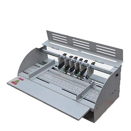 CXD Elektrische Falzmaschine, Nutmaschine Perforiergerät Creasing Maschine Für Papier Perforiergerät Rillmaschine Profi Einstellbare,Grau