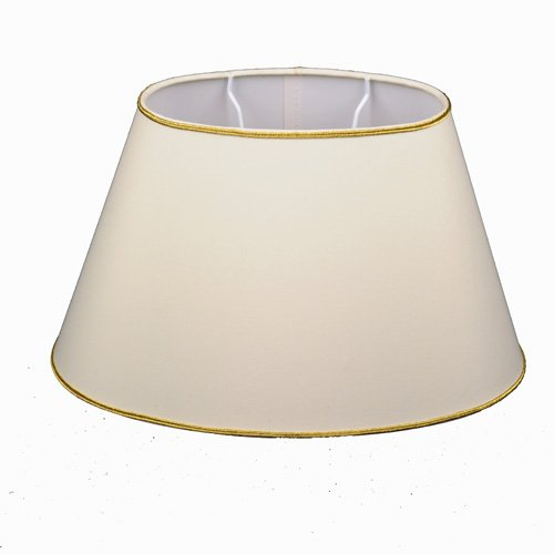 Lampenschirm Oval Creme + Gold Soutaches TL 25-15-16
