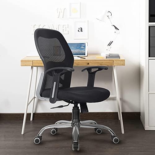 Green Soul ® Newyork Fabric Mid-Back Mesh Arm_Rest Office Executive Ergonomic Chair (Black)
