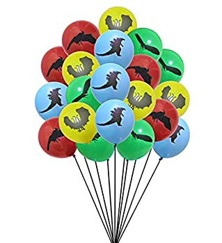 Each Pack of 20 Godzilla  King of the Monsters Themed Latex Balloons 12-inch Size Latex Balloon Decorations A Total of 4 Colors of Balloons Suitable for Theme Party Supplies,Birthday Decorations.