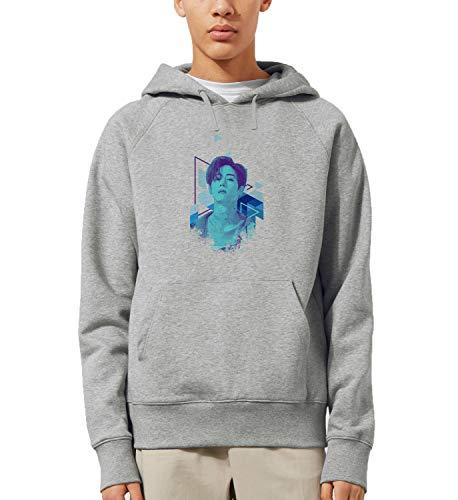 Kpop Mark Singer Got7_MRZ5604 Sudadera con capucha 100% algodón para hombres y mujeres, suéter de verano, regalo, casual unisex - gris - XX-Large