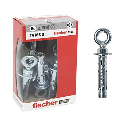 Fischer 71255 Stahldübel Ta M 8 mit Öse, Durchmesser 12 mm