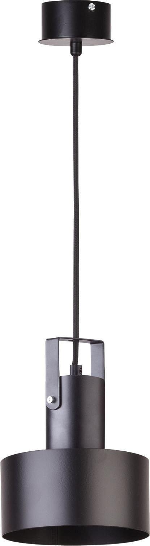 noire industriel Suspension abat-jour rond Diamètre suspendu Profondeur jusqu'à 90cm Salon Lampe suspension rétro