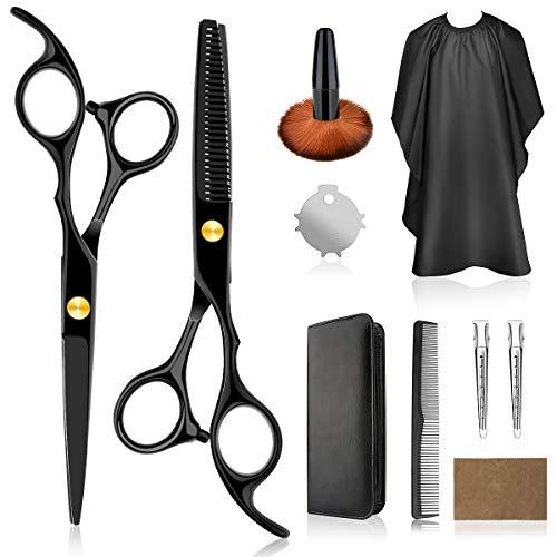 VANWALK Haarschere set, Professionelle Friseurscheren 2 Premium Scharfe haarschneideschere Home Haarschneide-Kit mit Haarschnittumhang für Männer, Frauen, Kinder und Haustiere