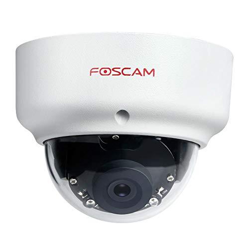 Foscam Cámara IP D2EP Full HD 2MP PoE P2P WDR 2.0 Resistente a la Intemperie con visión Nocturna IR hasta 20 m, detección de Movimiento