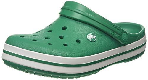 Crocs Crocband Clogs, Ciabatte Unisex, Gomma – Adulto, Verde (Deep Green/White), 42-43 EU