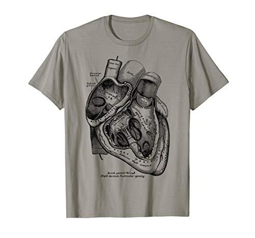 Anatomía del corazón humano anatomía médica ilustración Camiseta