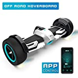 Fitnessclub G-F1 Off-Road Hoverboard, UL2272 Certified 8.5' Self Balancing Scooter with Bluetooth Speaker LED Lights for Kids and Adult (Sliver)