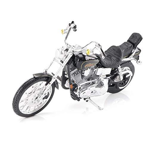 Yppss Modelo de coche motocicleta modelo colección regalo modelo coche Harley HD-9 carretera simulación aleación niño regalo de cumpleaños eterno