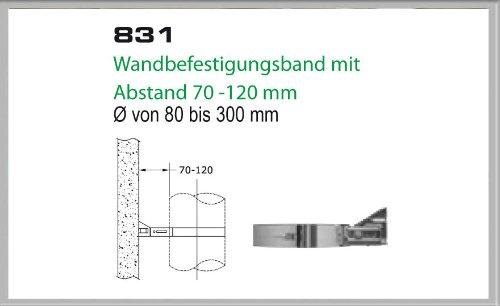 Soporte de pared 70 - 120 millimeter para chimenea juegos de 200 mm