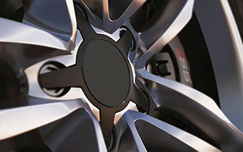 Standard ajustement universel 80 mm Centre de roue en alliage Cap badges, gris