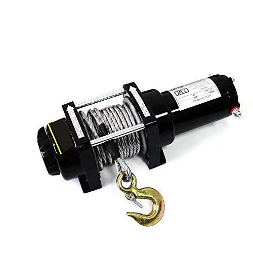 ZHHWYP 12 V 2000lbs cabrestante eléctrico polipasto elevación Cable de Acero de...