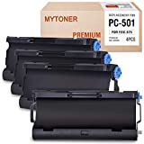 MYTONER PC501 Black Ribbon Compatible with Brother Fax Cartridge for Brother FAX 575 Fax Printers (4-Cartridge)