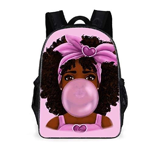 Generic Sac à Dos Fille Africaine Sac à Dos pour Ordinateur Portable Sac à Dos pour Adolescent Sac à bandoulière Sac à Main 1# B