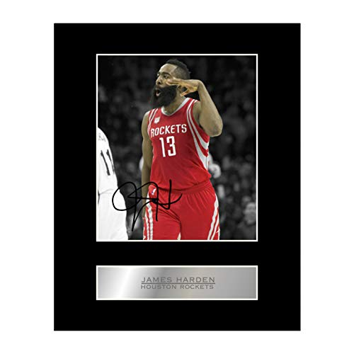 Foto firmada de James Harden Houston Rockets NBA autografiada para regalo