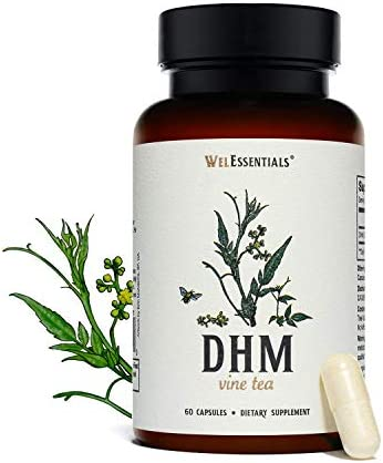 WelEssentials 100 Pure Dihydromyricetin DHM Vine Tea Moyeam 500mg x 30 Servings Max Strength product image