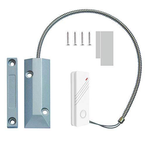 Wolf-Guard MC-J01 - Contacto para puerta de garaje de metal, sensor inalámbrico, alarma magnética para tienda, garaje, persiana metálica