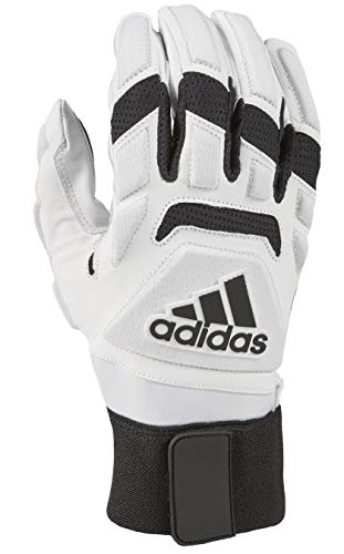 adidas Freak MAX 2.0 Padded Lineman Football Gloves White X-Large