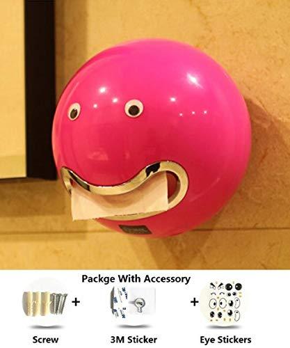 Toilettenpapierhalter aus ABS-Kunststoff Papierrollenhalter für Badezimmer Eine Vielzahl von Farben Creative Roll Tissue-Box, Pink