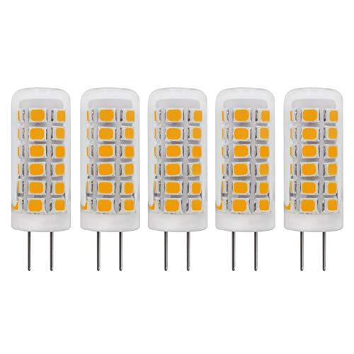 G4 LED Dimmbar Mini Kurz Glas Birne 220V-240V AC 2W Warmweiss 3000K Ersetzt 20W Halogen Stiftsockellampe (Nicht Niederspannung 12V), 5 Stück [MEHRWEG]