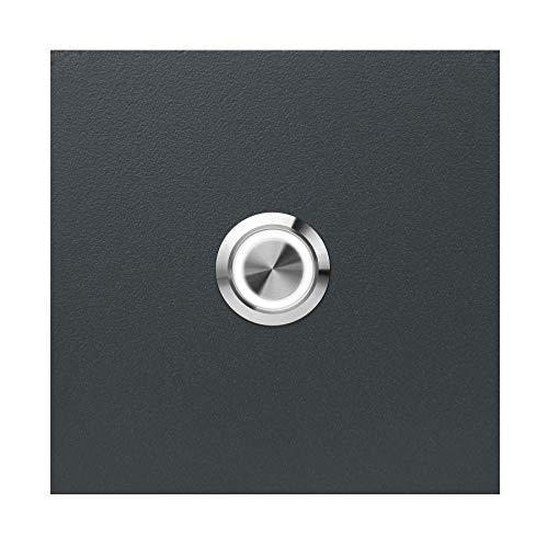 LED-Klingel anthrazit-grau (RAL 7016) MOCAVI Ring 505 V4A-Edelstahl Klingel-Taster, quadratisch (8,5 cm), modern, matt, deutsche Markenqualität