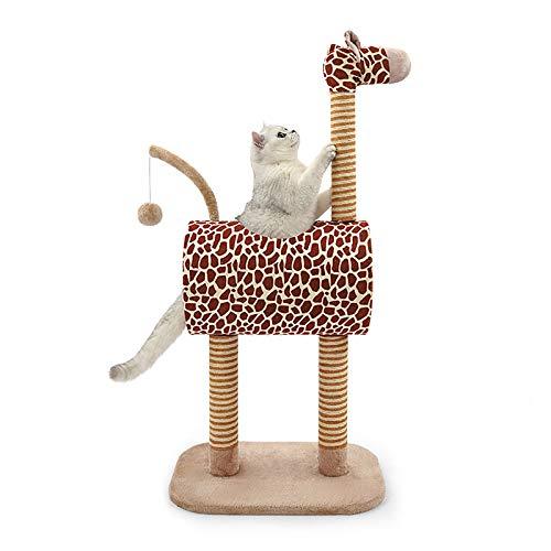 AHAQ Spielturm Baum Katze Aktivitätszentrum, DIY Giraffe Kätzchen Aktivität Katze Kletterrahmen, Katzenkratzer, Haustierwohnung Katzenturm mit weichen Plüschkugeln.