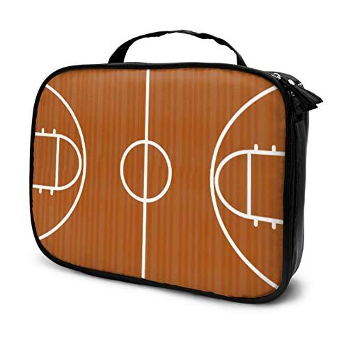 Basketball Design Über Gericht Vektor Reise Kleine Make-Up Taschen Für Frauen Tasche Kosmetik Herren Reise Kosmetiktasche Multifunktions Gedruckt Tasche Für Frauen