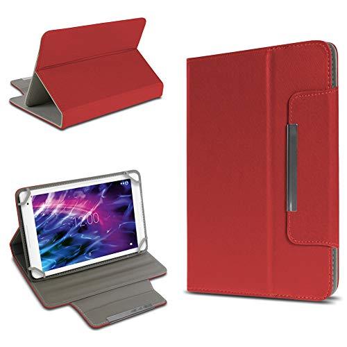 UC-Express Universal Schutzhülle Standfunktion Hülle Medion Lifetab P10610 P10606 P10602 X10605 X10607 S10366 S10365 S10352 P10356 P10341 Tasche Cover Hülle, Farben:Rot